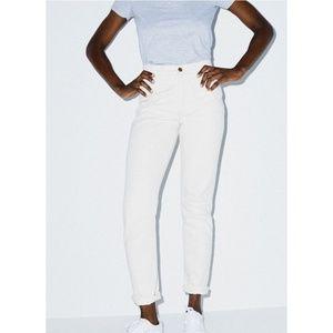 American Apparel 5-Pocket Mom Jeans in Cream